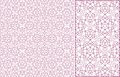 Vector seamless pink guilloche background Stock Images