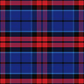 Vector seamless red and blue Scottish tartan Royalty Free Stock Photo