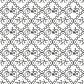 Vector seamless retro bicycle pattern with rhombus can be used in textiles for book design website background Royalty Free Stock Photography