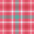 Vector seamless scottish tartan pattern in pink, blue, turquoise and white. Royalty Free Stock Photo