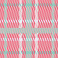 Vector seamless scottish tartan pattern in pink, blue, turquoise and white Royalty Free Stock Photo