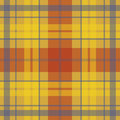 Vector seamless scottish tartan pattern in yellow red purple british or irish celtic autumn design for textile fabric or Royalty Free Stock Photos