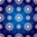 Vector seamless snowflakes pattern Royalty Free Stock Photography
