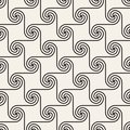 Vector seamless spiral shapes pattern. Modern stylish abstract texture. Repeating geometric tiles