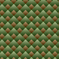 Vector seamless square pattern green set Stock Image