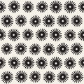 Vector seamless sunburst shapes freehand pattern. Abstract background with round brush strokes. Hand drawn texture Royalty Free Stock Photo