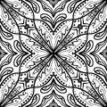Vector seamless texture. Beautiful black and white pattern for design and fashion with decorative elements