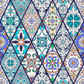 Vector seamless texture. Beautiful mega patchwork pattern for design and fashion with decorative elements Royalty Free Stock Photo