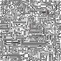Vector seamless texture. Connections and contacts. Royalty Free Stock Photo