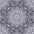 Vector seamless texture with floral mandala in indian style