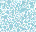 Vector seamless texture with flowers, birds and butterflies. Aut
