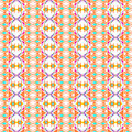 Vector seamless texture. Geometric ornamental pattern with bright spring colors. Ethnic ornament Royalty Free Stock Photo