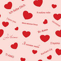 Vector seamless texture with hearts Royalty Free Stock Photography