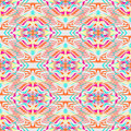 Vector seamless texture. Tribal geometric pattern. Electro boho color trend. Aztec ornamental style Royalty Free Stock Photo