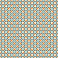Vector seamless tiling pattern with polka dot ornament.