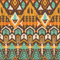 Vector Seamless Tribal Pattern in Scribble Style