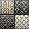 Vector seamless vintage background black wallpaper Royalty Free Stock Photography