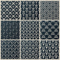 Vector seamless vintage backgrounds set black baroque wallpaper Royalty Free Stock Photo