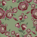Vector Seamless vintage flower rose pattern Stock Photos