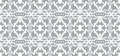 Vector seamless wallpaper. Monochrome abstract pattern Royalty Free Stock Photo