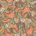 Vector seamless wave hand-drawn retro pattern Royalty Free Stock Image