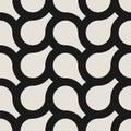 Vector seamless weave geometric pattern. Endless stylish monochrome background. Creative repetitive design