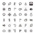Vector season icons on white background