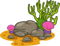 Vector Seaweed-coral isolated illustration Royalty Free Stock Photography