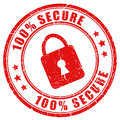Vector secure stamp Stock Photo