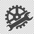 Vector Service tools icon on transparent background