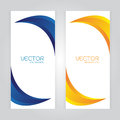 Vector set Abstract background with curved blue Orange colors. Space Royalty Free Stock Photo