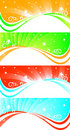 Vector set of abstract banners Royalty Free Stock Photo