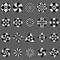 Vector set of abstract geometric elements and symbols Royalty Free Stock Photo
