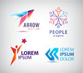 Vector set of abstract logo design, arrow