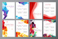 Vector set  Abstract modern flyer  brochure design templates Royalty Free Stock Photo