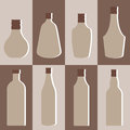 Vector set of alcohol bottle Royalty Free Stock Photo