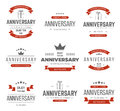 Vector set of anniversary signs symbols design elements collection Royalty Free Stock Photography