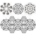 Vector set with arabesque elements Stock Image