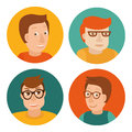 Vector set of avatars in flat style Royalty Free Stock Images