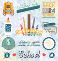 Vector set back to school labels and icons collection of for all grade levels Stock Image