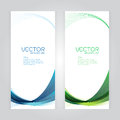 Vector set background Abstract header blue green wave whit vector de