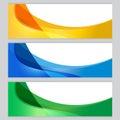Vector set Background tree frame Orange, blue, green