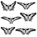 Vector set of beautiful butterflies. Stock Photo