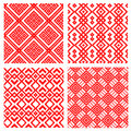 Vector set of belorussian seamless patterns Royalty Free Stock Photo
