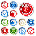 Vector set of best choice stickers Royalty Free Stock Images