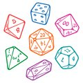 Vector set of board game dices Royalty Free Stock Photo