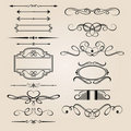 Vector Set Border Design Element Royalty Free Stock Photo