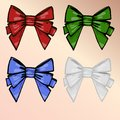 Set of multi-colored bows