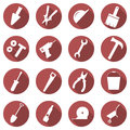 Vector set of building concept icons. Flat images of tools.