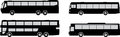 Vector set bus silhouettes Stock Photos